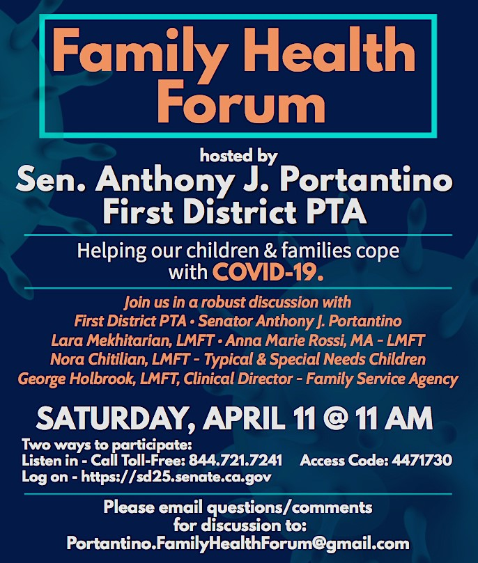 Sen Portantino Family Health Forum